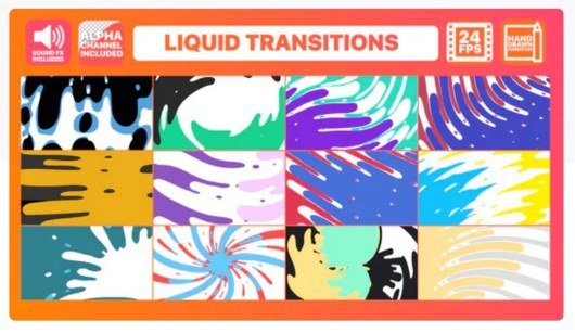 liquid transitions premiere pro template