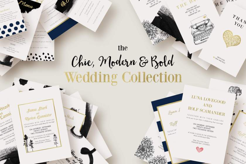 Chic Modern Bold Wedding Collection