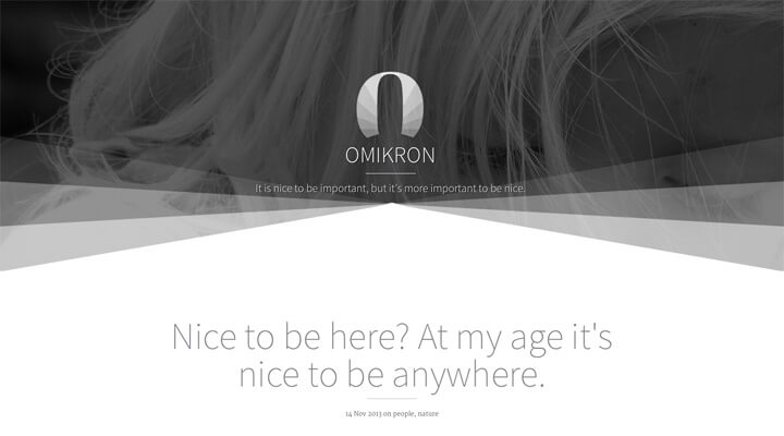 omikron minimal responsive bootstrap ghost theme - 20+ Minimal Bootstrap Templates