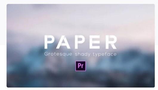 paper typeface premiere pro template