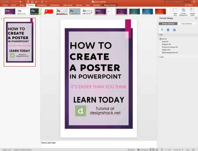 How to Make a Poster in PowerPoint: 25 Simple Steps  Design Shack