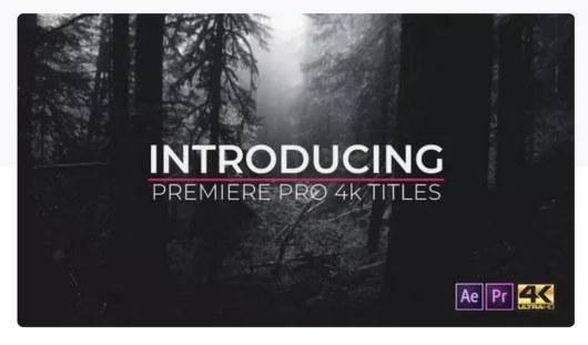 pro titles 4k premiere pro template
