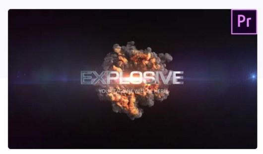 quick explosion premiere pro template