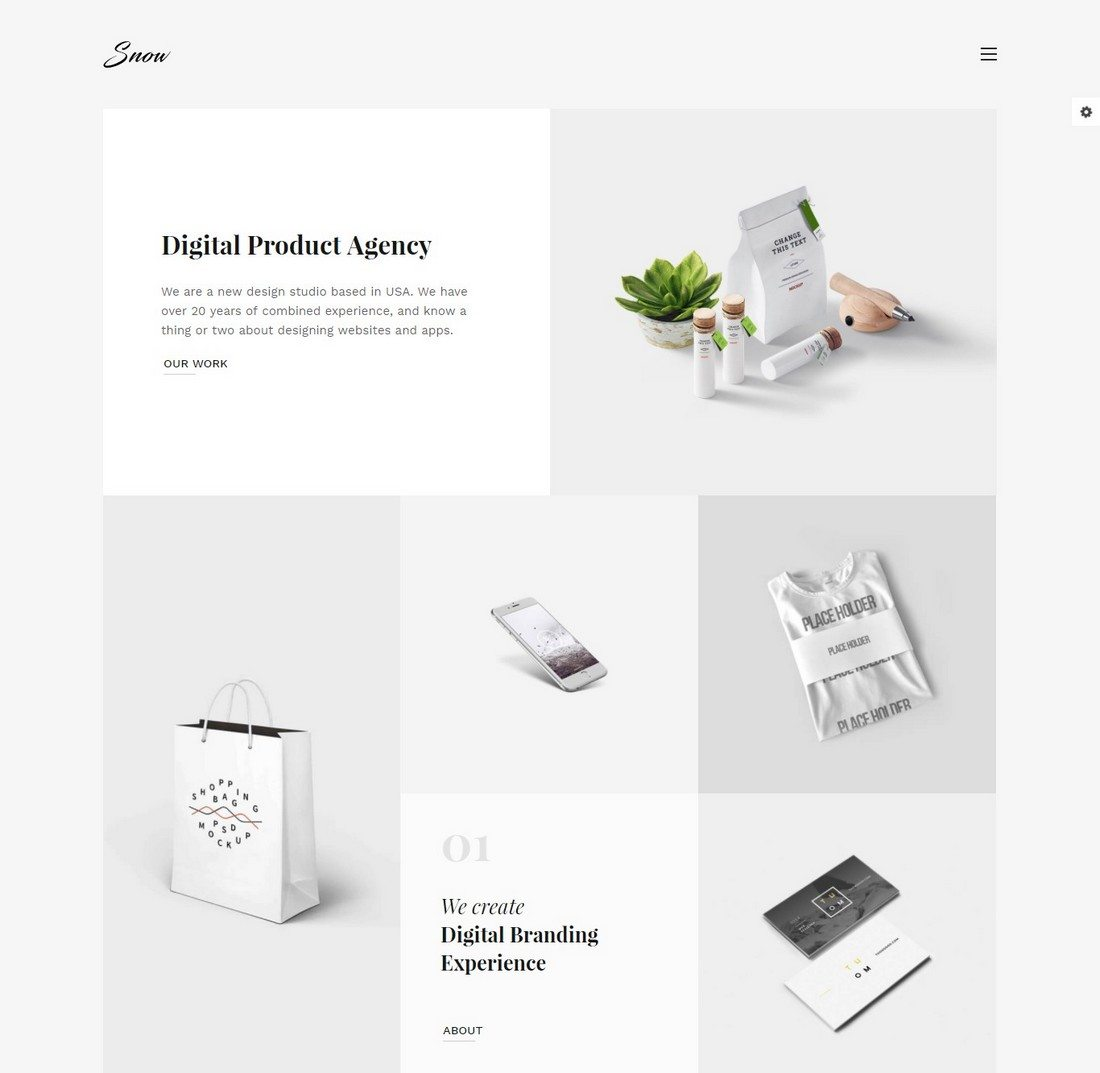 snow - 20+ Minimal Bootstrap Templates