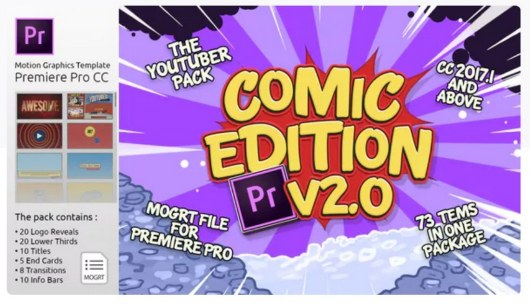 the youtuber pack premiere pro template