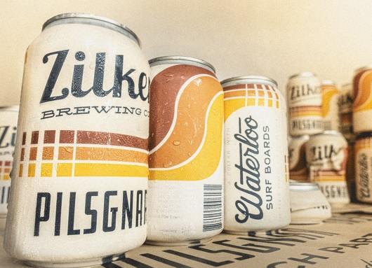 zilker brewing label
