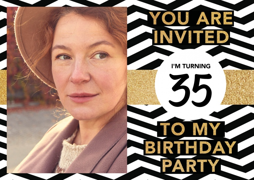 35th birthday party invitation card invitation cards quotes send real postcards online