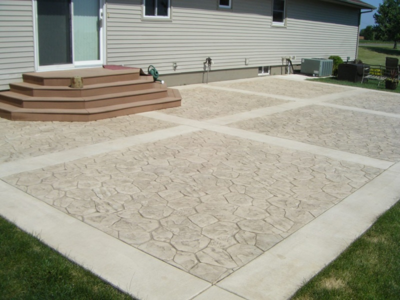 decorative concrete stamped concrete