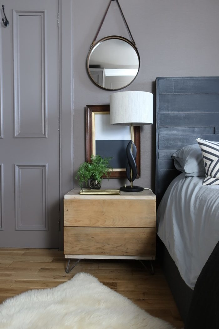 Ikea Pax Wardrobe And DIY West Elm Bedside Tables