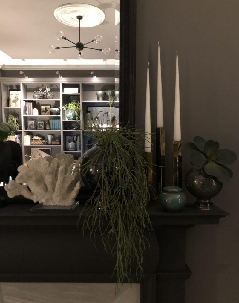 Moving Forward; Mantel decor