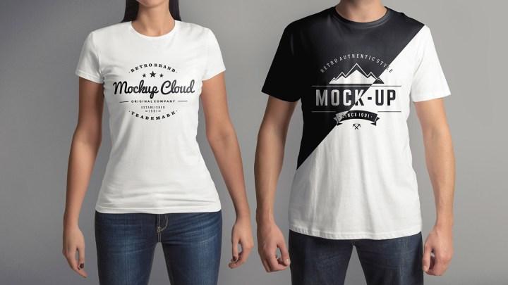 T Shirt Mock Up Set