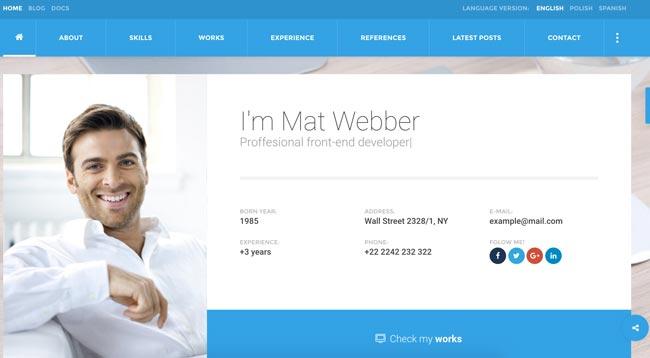 Create a blank web designer business card. 30 Best Html Virtual Business Card Templates 2016 Designmaz