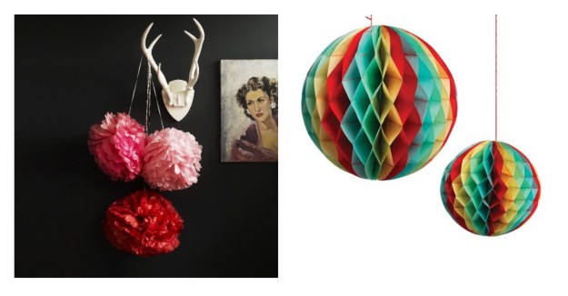 Christmas pompom decorations