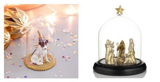party-dog-cloche-angel-at-my-table Wise Men Snowglobe decoration