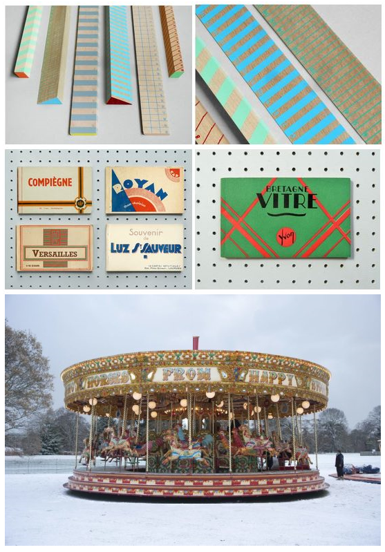 vintage french postcards, Hay stationary, carousel