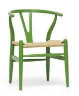 wegner wishbone chair green