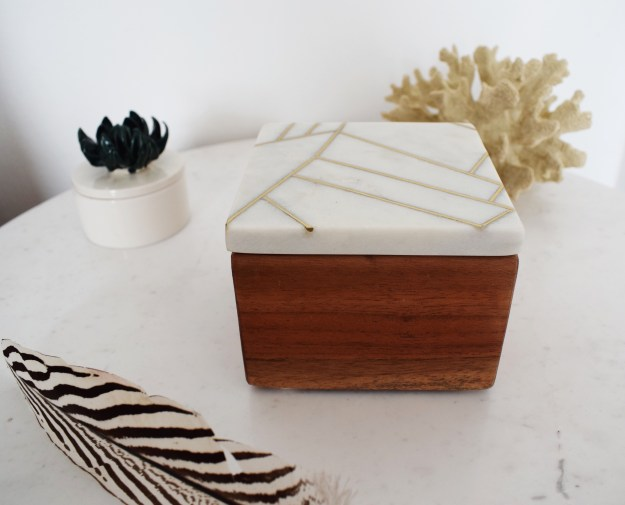 Roar & Rabbit for West Elm Marble geometric jewellrey box