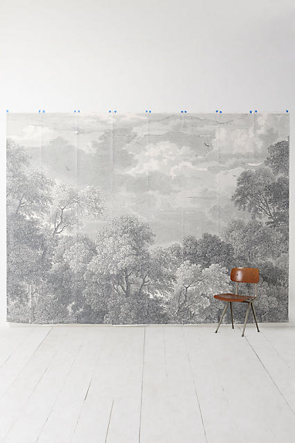 etched arcadia mural wallpaper