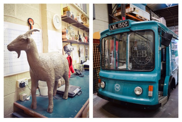 Farrow & Ball HQ, offices, goat, milk float, tour press launch
