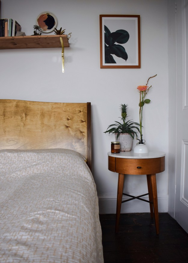 Bedroom Makeover Scandinavian White Geometric Bohemian