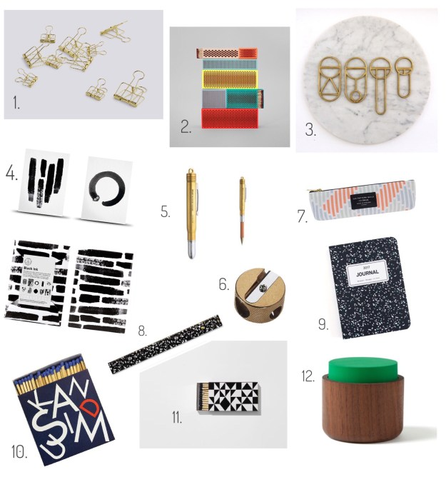 Design Lovers Gift Guide 2016, scandi home office stationary