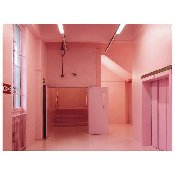 PINK inspiration in design and architecture, ideas for using pink interiors -Bold Tendancies peckham rye pink