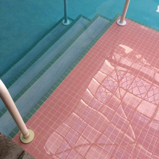 PINK inspiration in design and architecture, ideas for using pink interiors -swimming pool pink