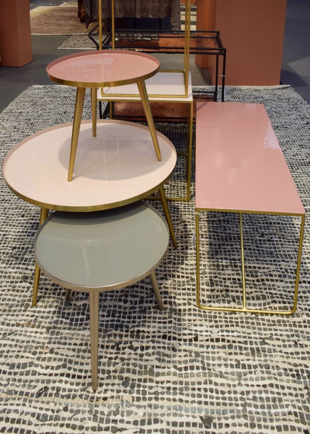 Top Drawer London Spring Summer 17 Interiors home trends Broste Copenhagen pastel laquer tables