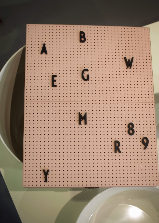 Top Drawer London Spring Summer 17 Interiors home trends Design Letters Arne Jacobsen blush pink peg board