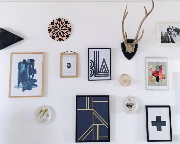 Interior design ideas gallery wall inspiration bohemian modern abstract texture (2)