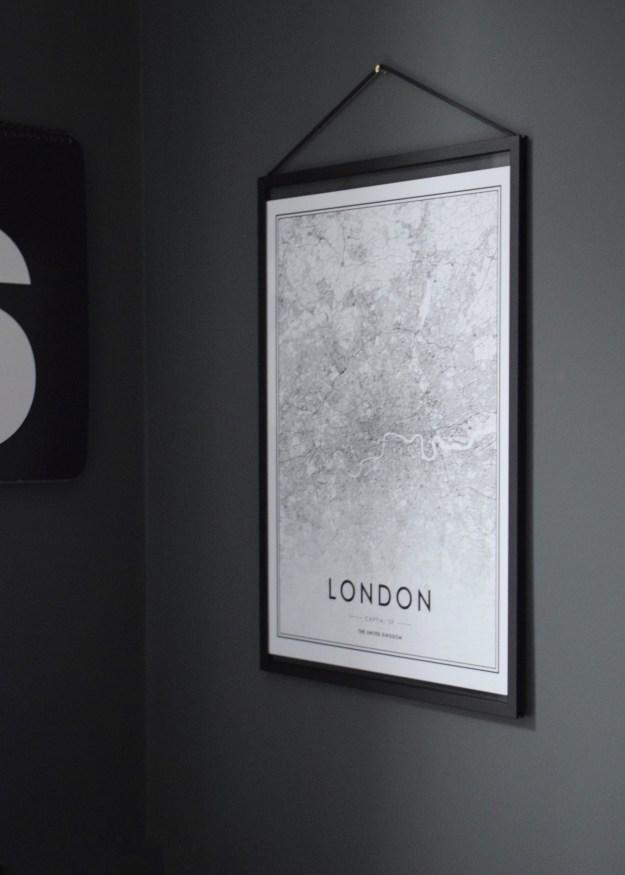 Interior design ideas wall art print monochrome maps typography wall art cheap stylish prints