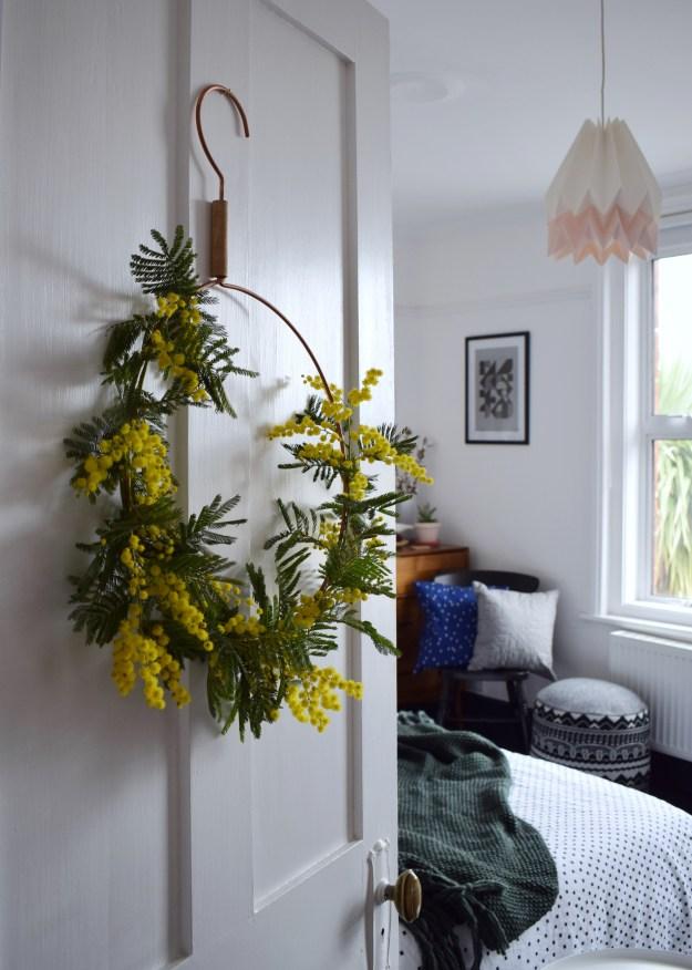 Spring easter craft how to make spring flower wreath scandinavian fragrant simple decoration door