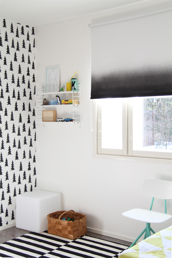 gradient print ikea blind hack