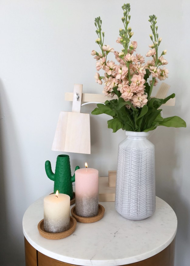 Summer interiors styling, light wood, marble, cactus vase, bolsius candles, interior design ideas and inspiration (2)