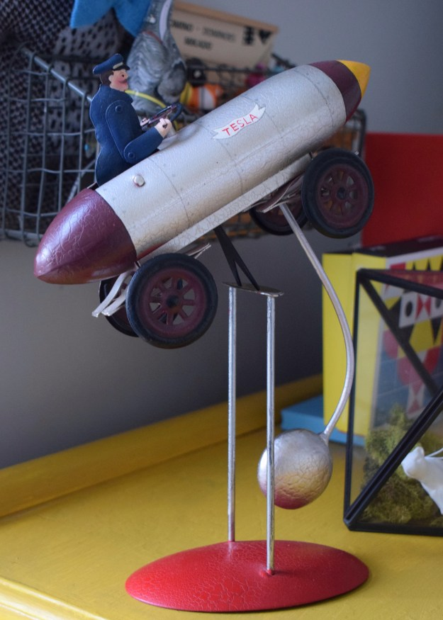 childrens decor vintage rocket toy