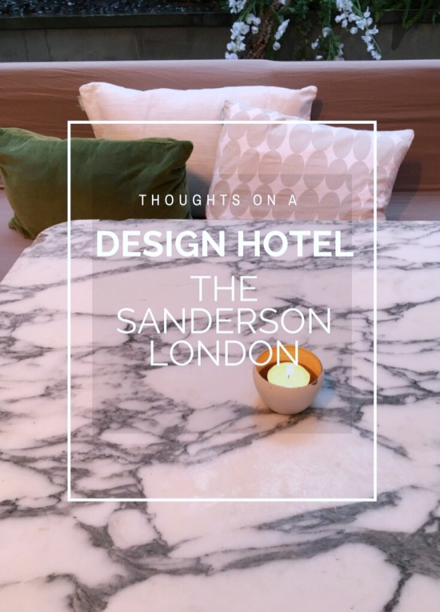 Sanderson London Design Hotel philippe starck atrium seating