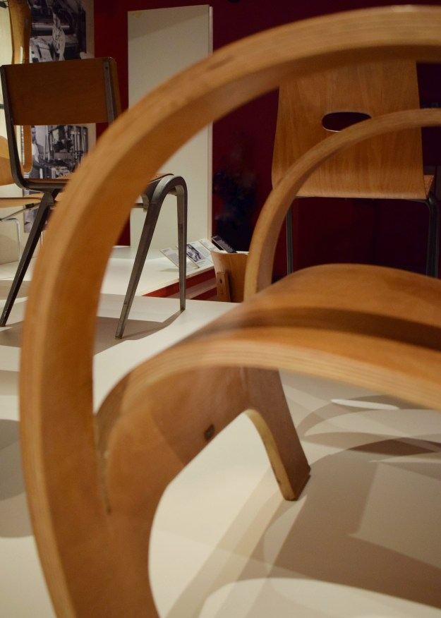 V&A Plywood Material of the Modern World mid-century chair detail