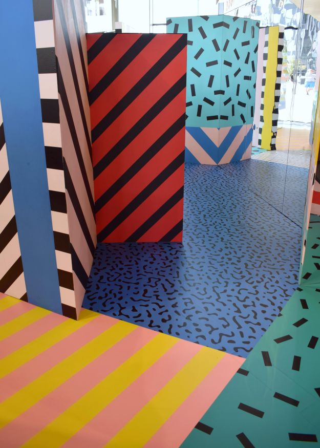 Camille Walala installation at Now Gallery, colour hunting, pattern, mark and line making, current de (2)
