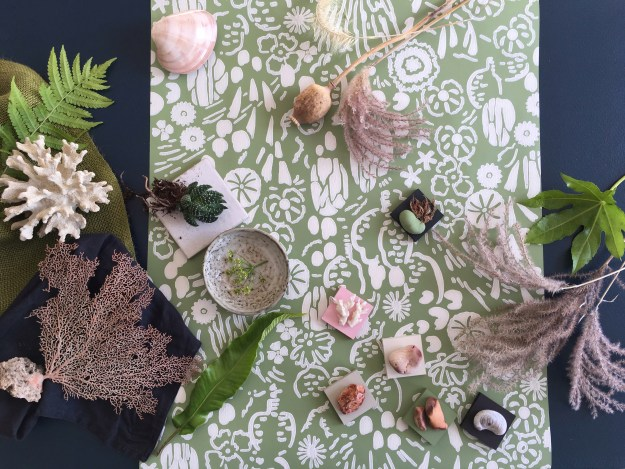 Farrow & Ball Atacama Moodboard, design inspiration, wallpaper launch 2017 exotic desert pattern natural history flora and fauna