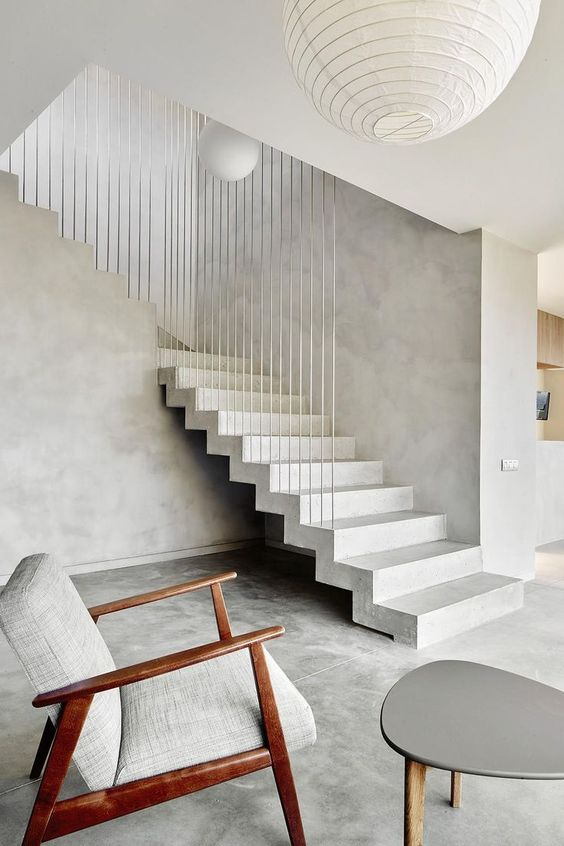 Interior Decor, ideas and inspiration for statement stairs design scandinavian mid century stone