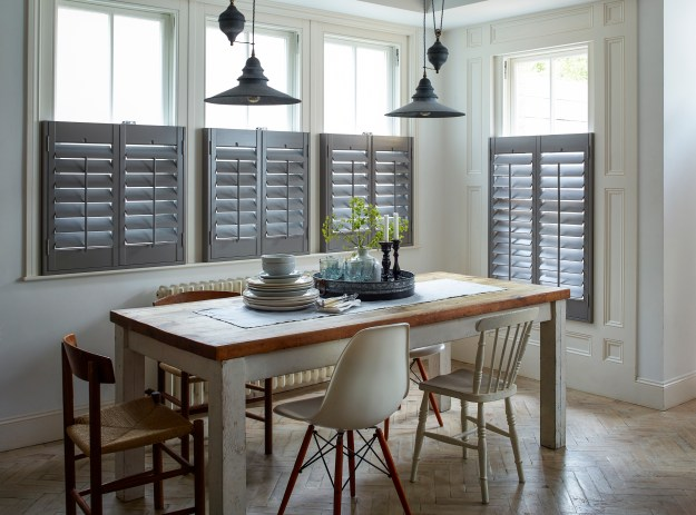 Grey Cafe Style Shutters Kelly Hoppen Landscape Colourful shutter ideas and inspiration window dressing style