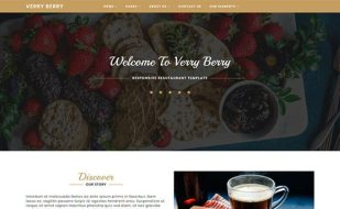 website template for restaurant