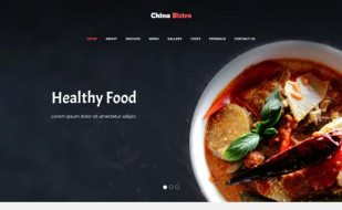 Bootstrap website template for food and hotel businesses