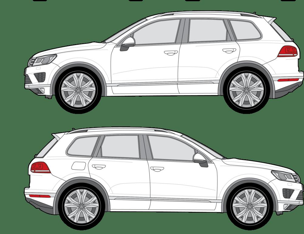 Volkswagen Touareg Blueprint Outline Dwonload Designstockbd