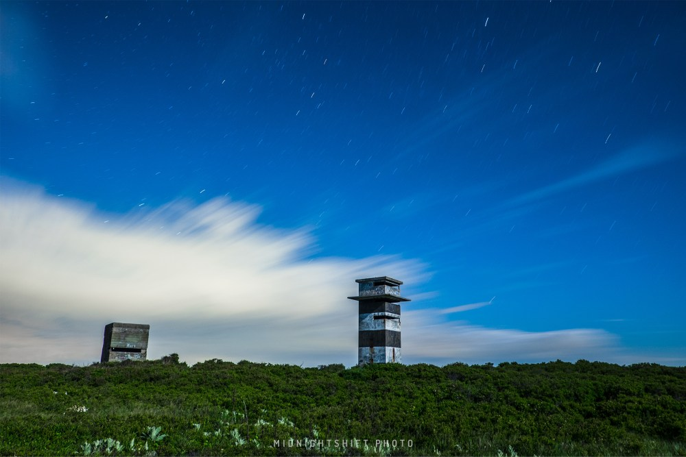 thunderstorm passing over Gooseberry Island in Westport, Massachusetts.