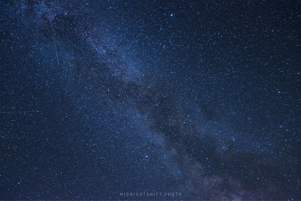 The tail of the Milky Way Galaxy above Mt. Carrigain