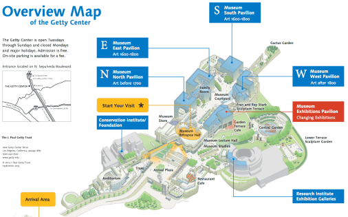 Map of the Getty Center