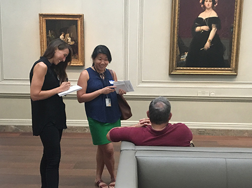 Interviewing visitors at the National Gallery of Art