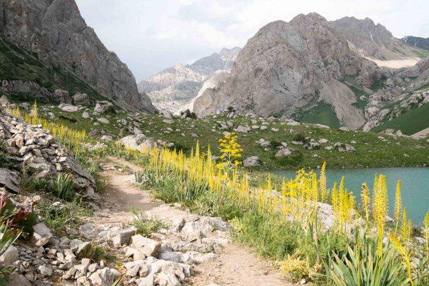 Kol Mazar (Holy Lake) trek near Arslanbob, Kyrgyzstan