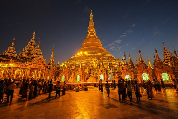 Shwedagon Paya on New Year's Eve 2015.